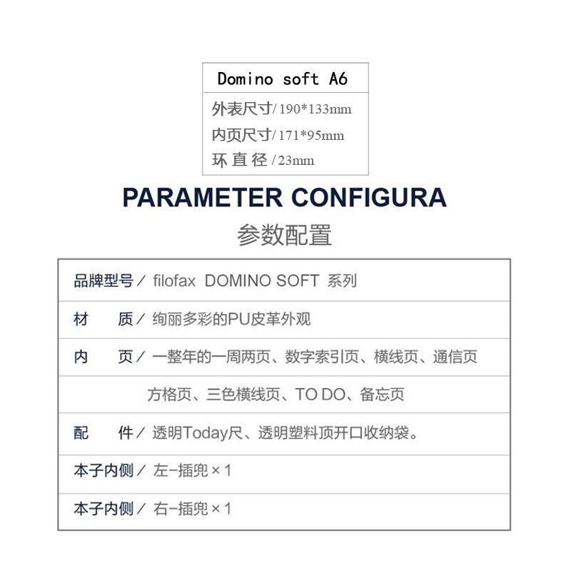 Personal Domino Soft Pale 2019 rosa Filofax 22577 Terminplaner