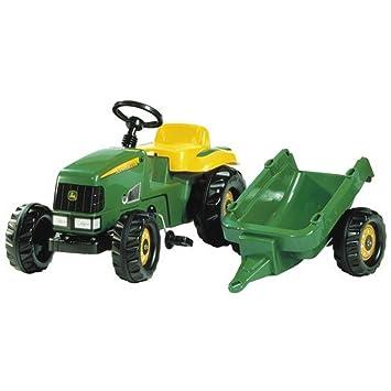 9d669bd614446a Tracteur à pedales John Deere avec remorque pour enfants de 2 à 4 ...