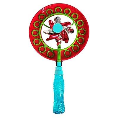Afazfa Bubble Wands Kit 2-in-1 Magic Bubble Stick Windmill Portable Bubble Stick Children Outdoor Bubble Toy (Blue): Clothing [5Bkhe1209518]