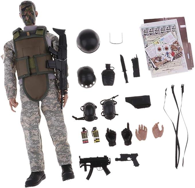 1.6 Soldado De La Policia Militar De 12 Pulgadas Figura De Accion Nb02a: Amazon.es: Juguetes y juegos
