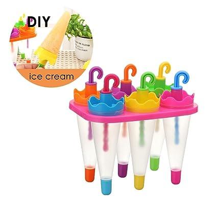 Aolvo moldes de plástico con forma de paraguas, moldes de helado y moldes de helado
