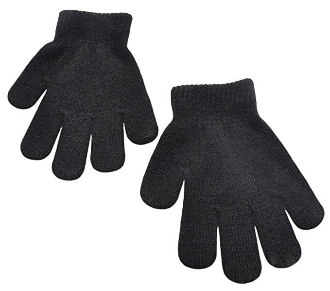 83fab55e0 BaiX Little Kids Solid Winter Knitted Full Finger Gloves, 3-8 Years Old,