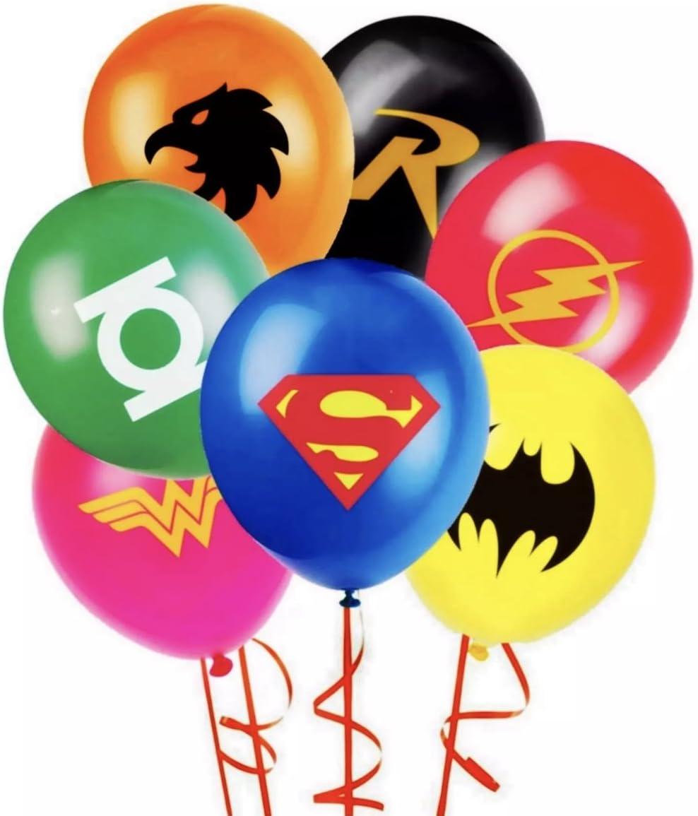 BATMAN SUPERMAN JUSTICE LEAGUE  BALLOON balloons BIRTHDAY PARTY decoration suppy