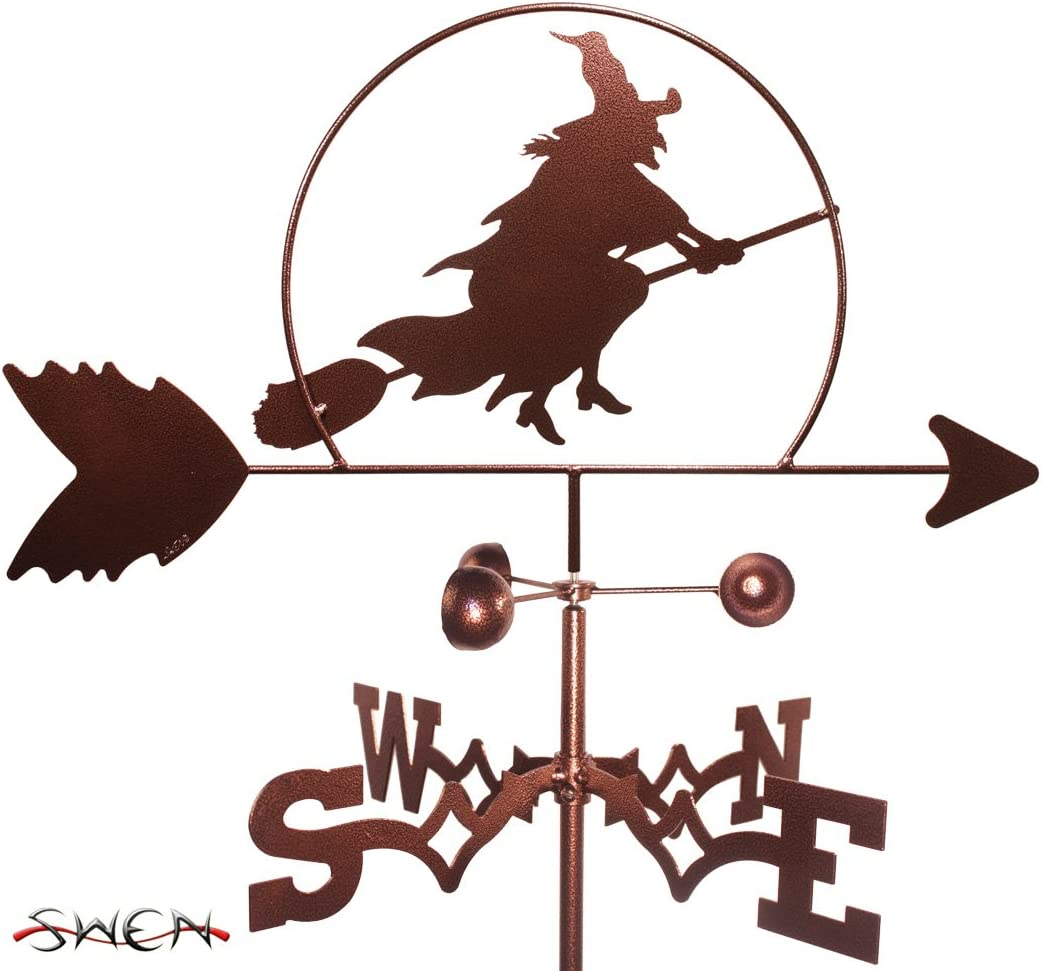 SWEN Products Hand Made Witch Halloween Garden Stake Weathervane ~New~