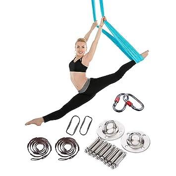 Kjhmin Profesional Hamaca de Yoga,Swing para Yoga Antigravedad,Ejercicios de Inversión,Flexibilidad