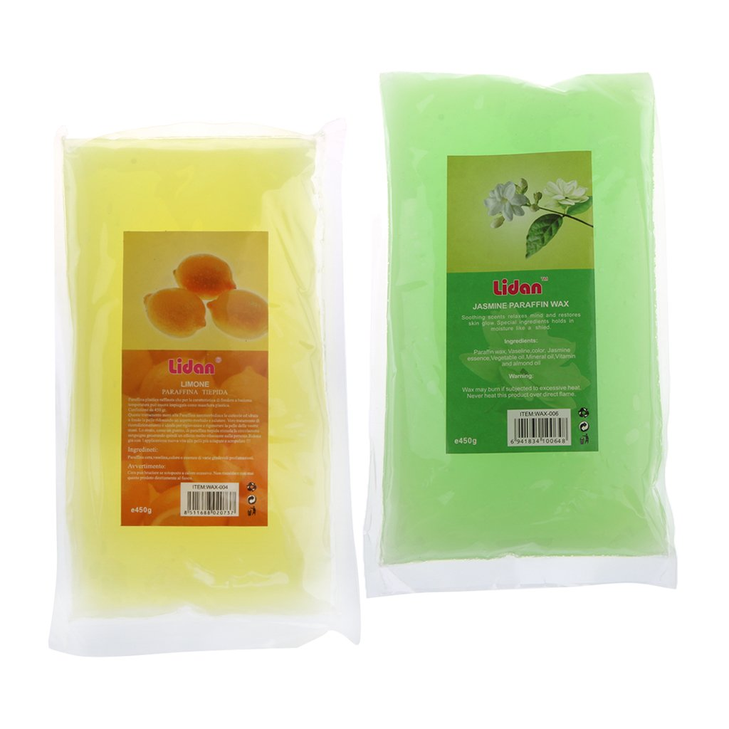 MagiDeal 2 Packs Paraffin Wax Hands & Feet Care Moisturizing Refill Liquid Bath Spa Lemon and Jasmine Flavor
