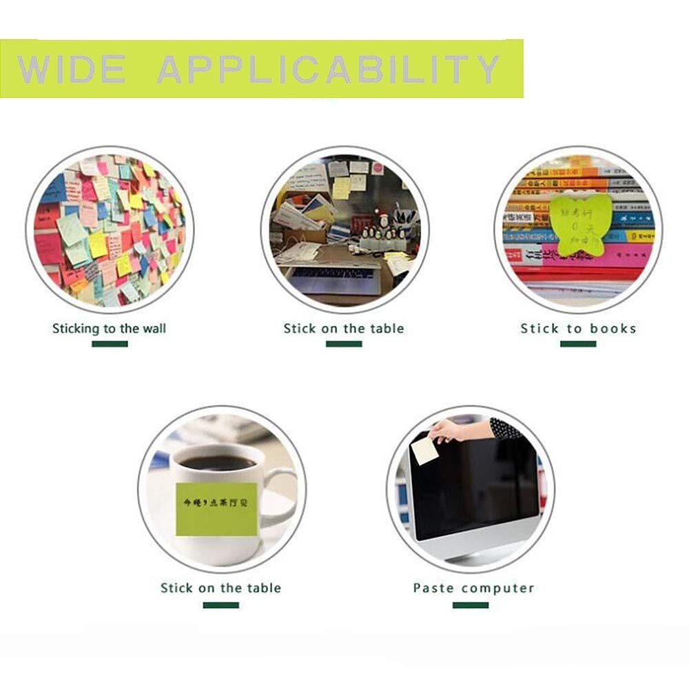 75 mm x 75 mm Notas autoadhesivas para pintar notas adhesivas autoadhesivas 8 formas diferentes en el interior 30 hojas por bloc color 12 PACK 8 almohadillas por paquete