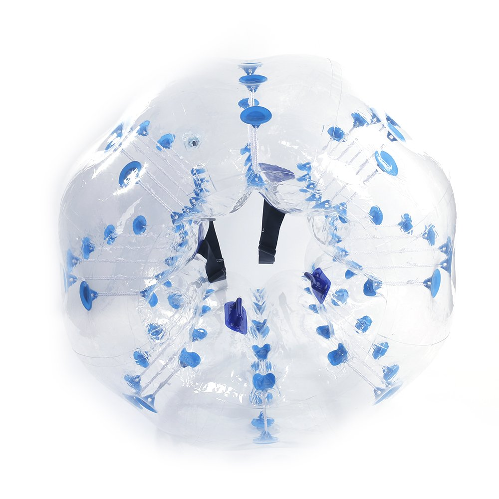 Festnight 5' Air Inflation Touch Ball PVC Bumper Bubble Soccer Ball Human Hamster Ball Transparent with Blue Balloons Ball for Party Outdoor Play and Decor by Festnight (Image #2)