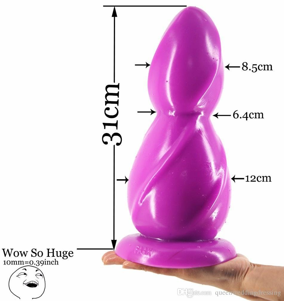ZHS 11.6*4.7''super Huge Thick Anal Plug Gaint Large Pagoda Adult Sex Toy for Women Stuffed Stimulator Product #Q145(1PC) by Zhonghaisun