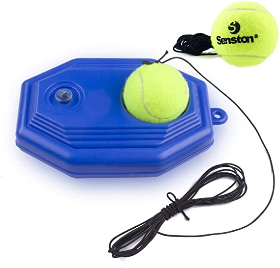 Senston Tennis Training Ball Tennis Trainer Rebound Ball Tennis Trainer Equipment Trainer Base + 2 Training Ball