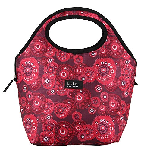 nicole-miller-of-new-york-insulated-lunch-cooler-fushion-red-13-tote