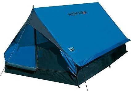 High Peak Hauszelt Minipack, Campingzelt für 2 Personen, Festivalzelt mit Wannenboden, 1500 mm wasserdicht, Ventilationssystem, Moskitoschutz,