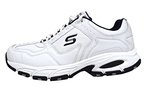 Skechers Mens Memory Foam Active Shoe Sneakers (White, 9.5)