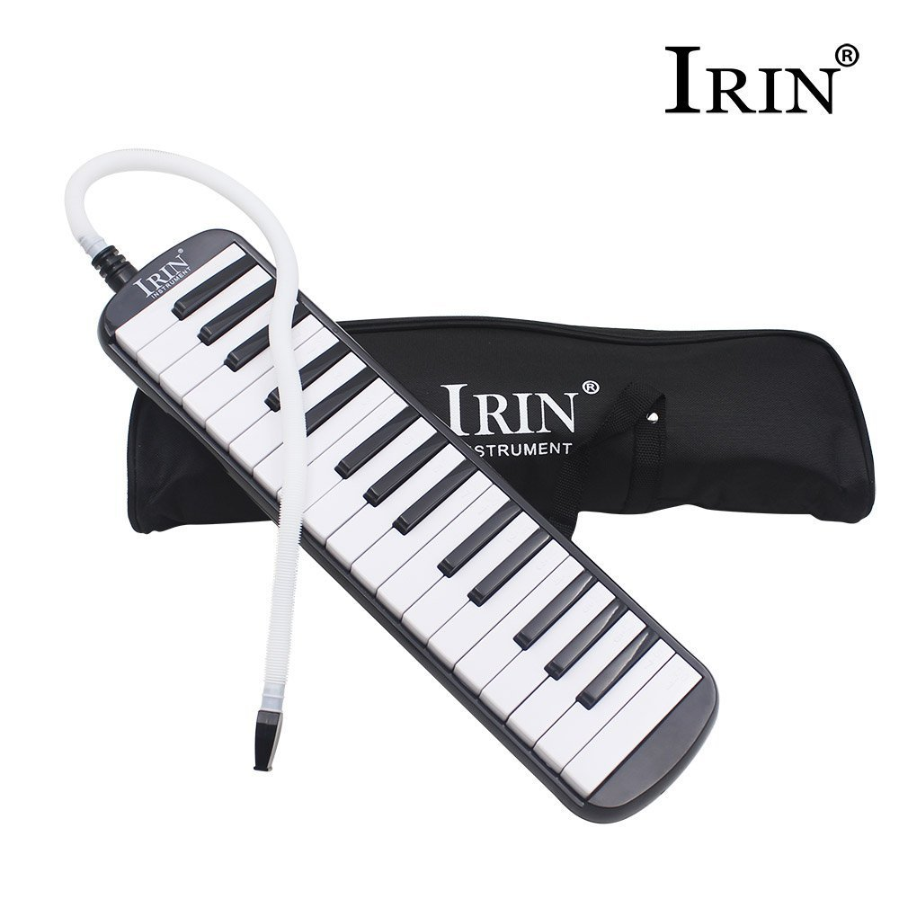 IRIN 32 Keys Melodica Musical Instrument for Music Lovers Gift with Carrying Bag (Black)