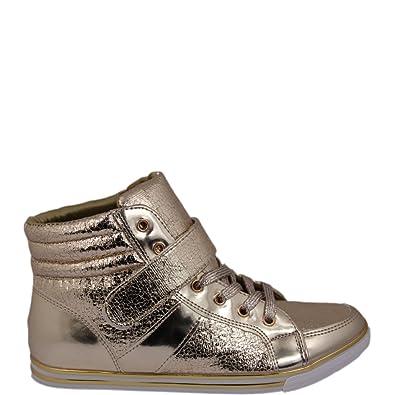 Sneaker High Mit Lasche Top Ausgefallener V120637GoldAmazon 4LAj35Rq