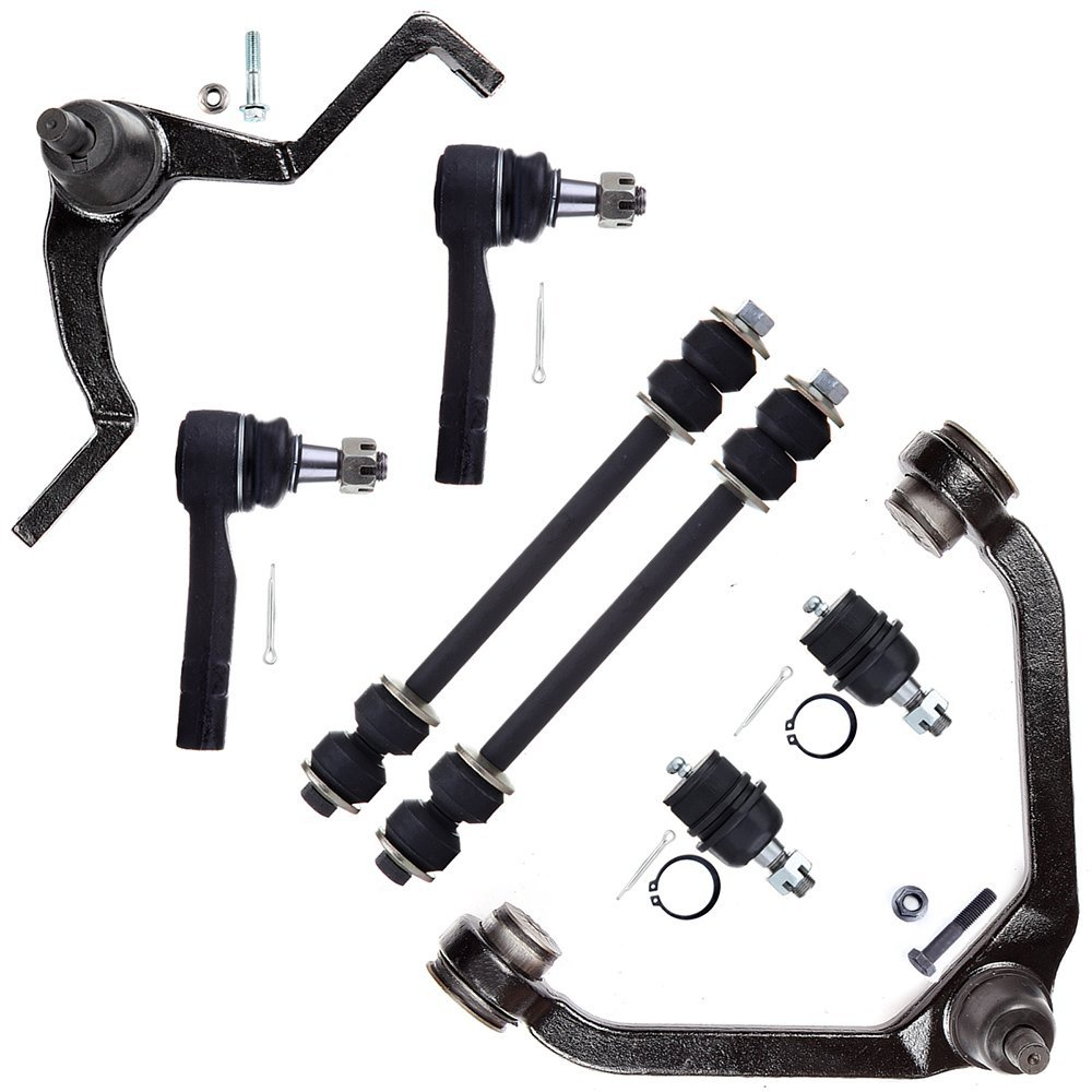SCITOO 8pcs Suspension Kit 2 Sway Bar 2 Outer Tie Rod End 2 Lower Ball Joint 1 Upper Control Arm 1 Control Arm And Ball Joint fit Ford Explorer Ranger Mazda B2500 B4000 Mercury Mountaineer K8708T