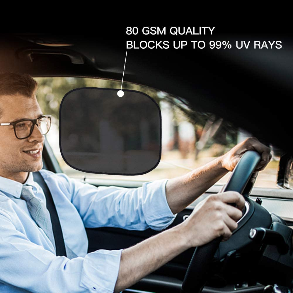 ,17x14 Cling Sunshade for Car Windows Glare and UV Rays Protection for Your Child 4 Pack Mieziba Car Window Shade Baby Side Window Car Sun Shades