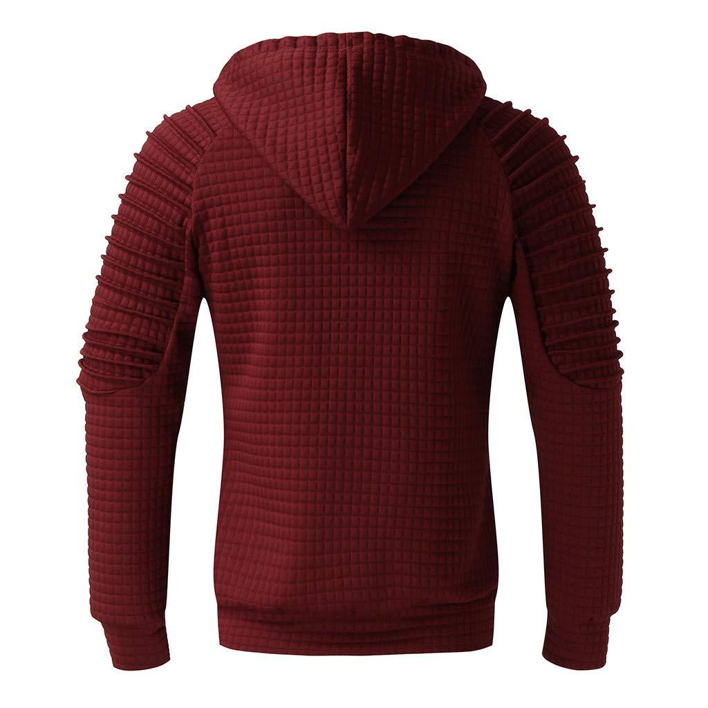 Landscap/_Men Warm Long Sleeve Pullover Hooded Sweatshirt Top Tee Outwear Blouse