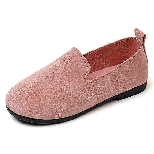 Amazon Girls Classic Suede Slip-On Loafers Flats Outdoor Casual Shoes (Toddler/Little Kid) $29
