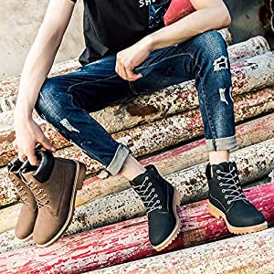 Sikye Men Women Ankle Boots,Short Plush Winter Thick Lace-up Short Boots Round Toe Casual Sneaker Shoes Outdoor- Couple Shoe