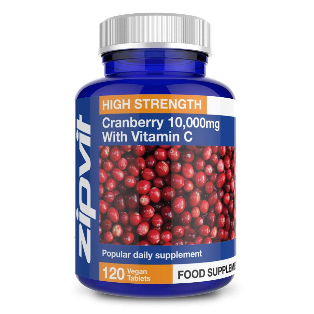 Cranberry Tablets 10000mg with Vitamin C, 120 Vegan Tablets. 4 Months Supply. UK Manufactured.