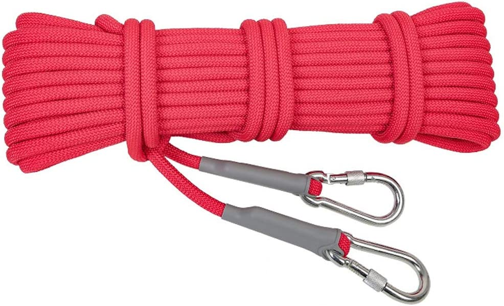Diameter 9.5mm // 12mm Optional Rope Safety Rope Outdoor Safety Rescue Rope Changde Jun Feng Shop Climbing Rope wear-Resistant Climbing Lifeline Snorkeling Rescue Survival Equipment