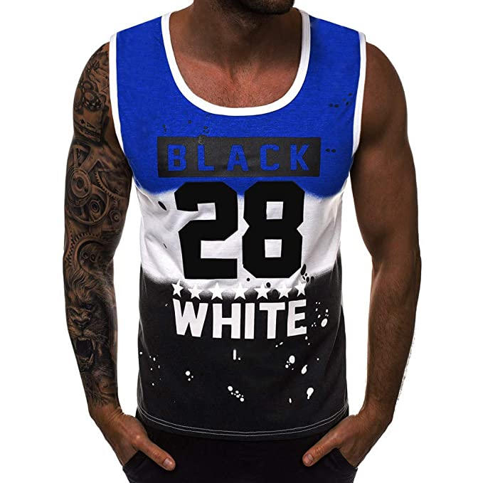 Amazon.com: Tops de baloncesto para hombre, número 28 ...