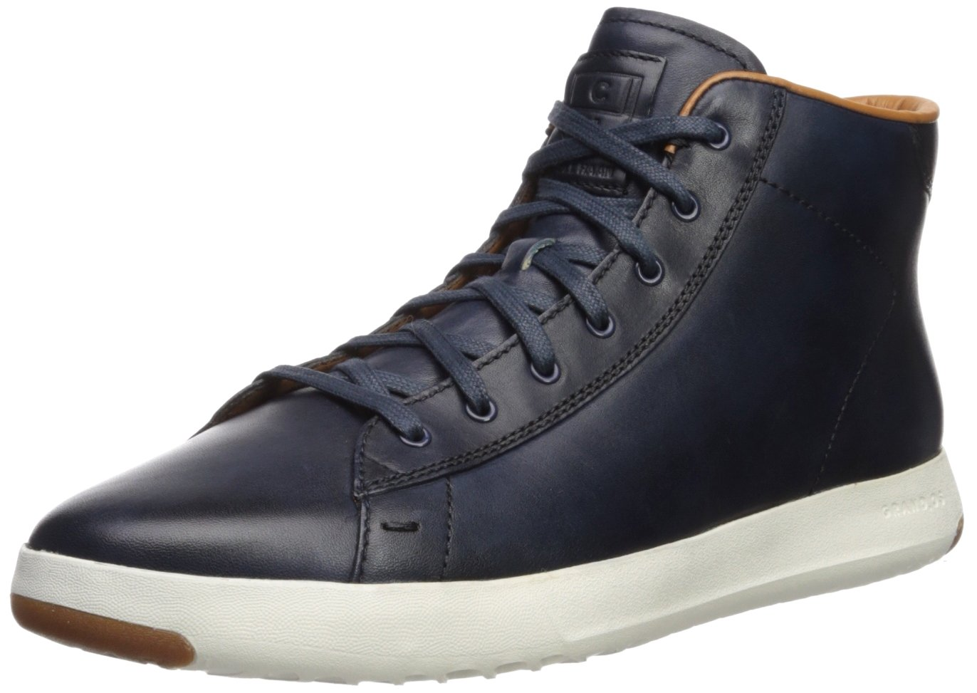 Cole Haan Men's Grandpro Hi Lux Sneaker, Blazer Blue Handstain, 10.5 Medium US