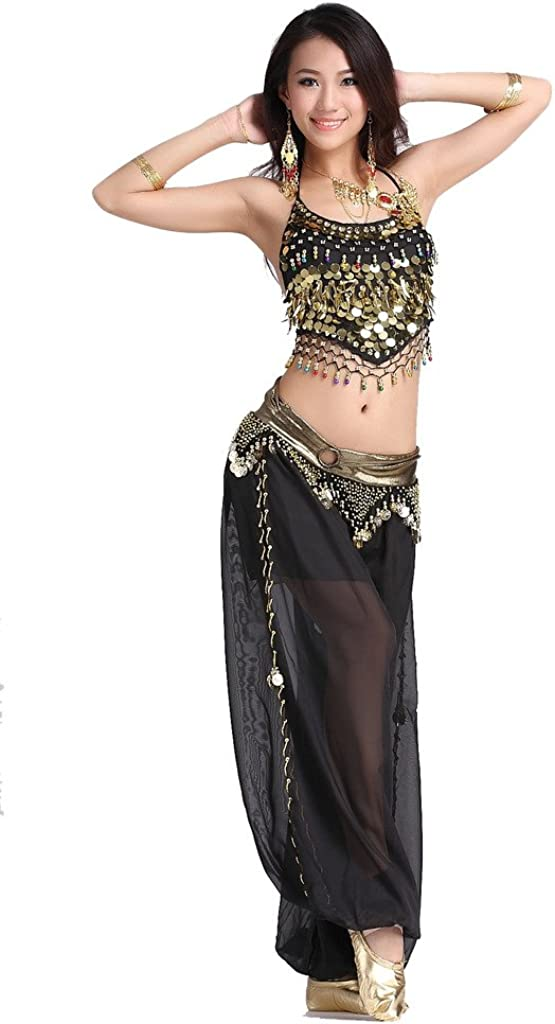 Women Belly Dance Accessories Costume Dancing Coin Sequins Hair Band Headband ME