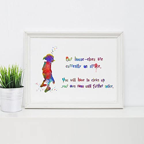 Harry Potter House Elf Dobby Quotes Wall Art Poster Inspirational Dobby Art Decor Baby Painting Art  sc 1 st  Amazon.com & Amazon.com: Harry Potter House Elf Dobby Quotes Wall Art Poster ...