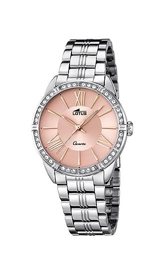 539485872671 Lotus - Reloj de Cuarzo para Mujer con Oro Rosa Esfera analógica y Plata  Pulsera de Acero Inoxidable 18130 2  Amazon.es  Relojes
