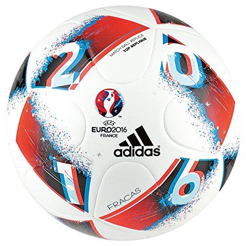 adidas Euro16 Fracas Top Replique Fußball, White/Bright Blue/Solar Red/Silver Metallic, 5