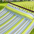 Best Choice Products Hammock Quilted Fabric with Pillow Double Size Spreader Bar Heavy Duty New