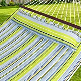 Best Choice Products Quilted Double Hammock w/Detachable Pillow, Spreader Bar