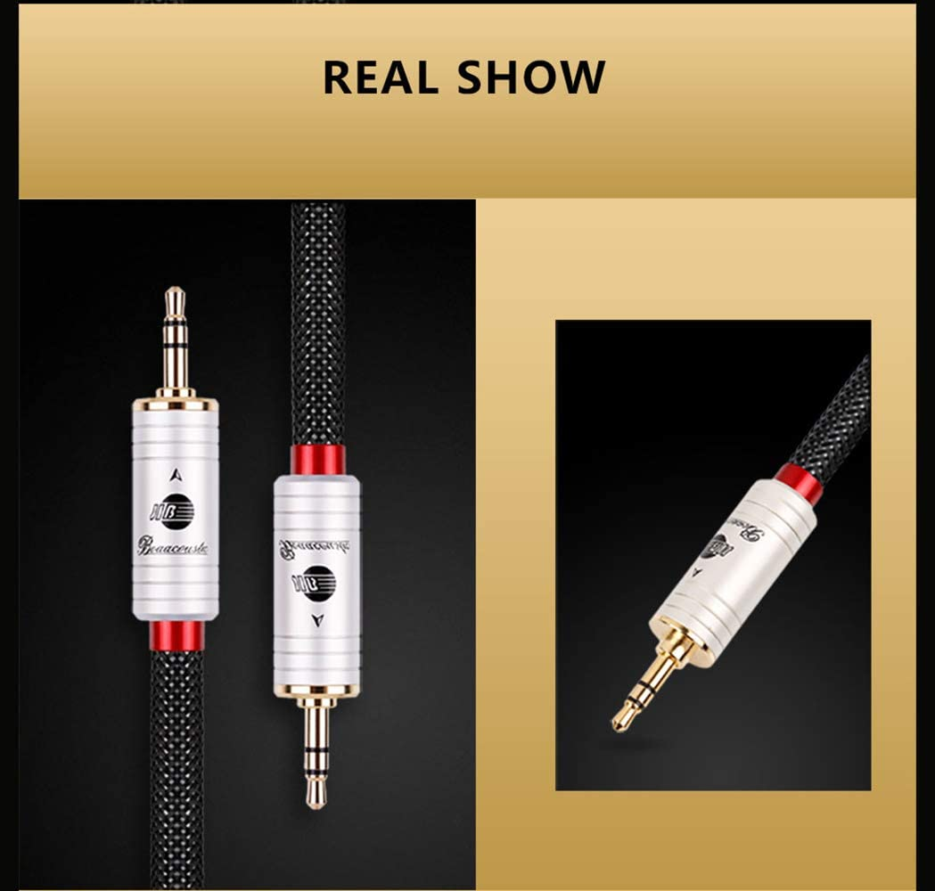 JIB Boaacoustic 4N OFC HiFi RAC to RCA Male to Male Subwoofer Cable 1.5M