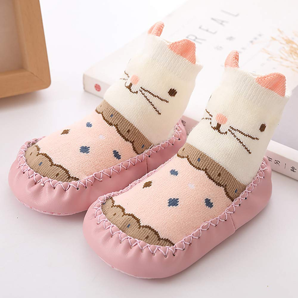Amazon.com : HP95 Winter Non Skid Socks Shoes Anti Slip Slipper Socks Soft Cartoon Socks Sneaker for Baby Toddlers (Age: 12-18 months, Pink) : Beauty