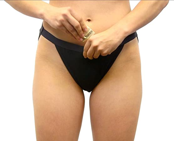 Stashitware Hidden Pocket Underwear Womens Bikini Brief. Secret Pocket for Carrying Cash & Cards.
