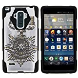MINITURTLE Case Compatible w/ LG G Stylo Phone Case, Silicome and PC SHOCK Impact Stand Case w/ Dazzling Designs for LG G Stylo LS770, H631, MS631, LG G4 Stylus Star Medal