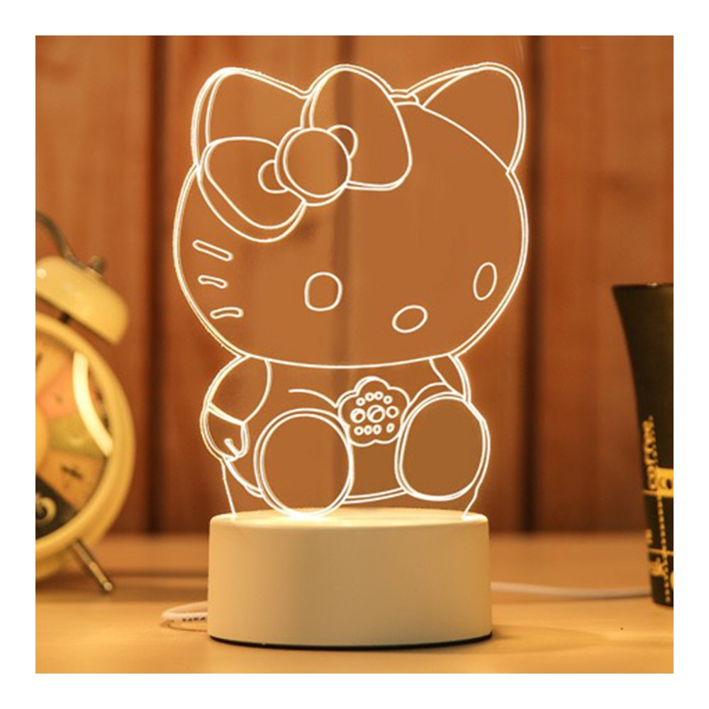 Lovely Cute Style Night Light Hello Kitty gifts Doll Desk Light USB Charge Lights Creative Table Lamp Battery Operated as Christmas Gifts (Hello Kitty) Oupurui