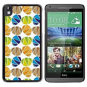 TopCaseStore / la caja del caucho duro de la cubierta de protección de la piel - Egg Holiday White Pattern - HTC DESIRE 816