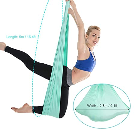 Fitness & Body Building Nice Aerial Yoga Hammock 5m X 2.8m Yoga Swing Aerial Anti-gravity Yoga Practicing Trapeze Resilient Inversion Exercise Strap