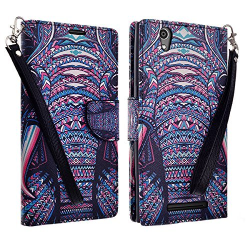 microseven-zte-zmax-z970-case-leather-wallet-case-with-card-slots-cash-compartment-and-detachable-wr