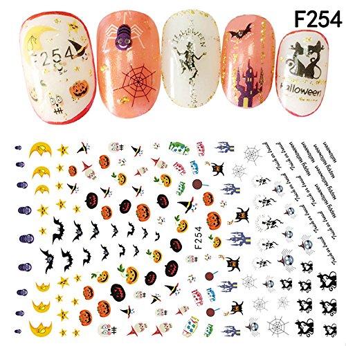 UOKNICE Halloween Nail Art Decals Manicure Transfer -