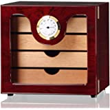 Scotte(TM) creative Solid wood 4 layer Cigar humidors small Cigar Cabinets with hygrometer for holder 50 cigar