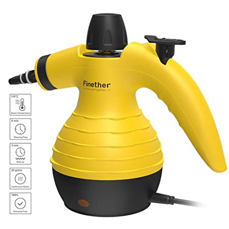 Finether Handheld Steam Cleaner All-in-One Sanitizer Vapor Cleaning ...