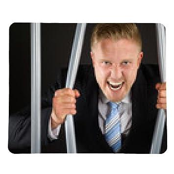 alfombrilla de ratón De negocios en cárcel doblar barras ...