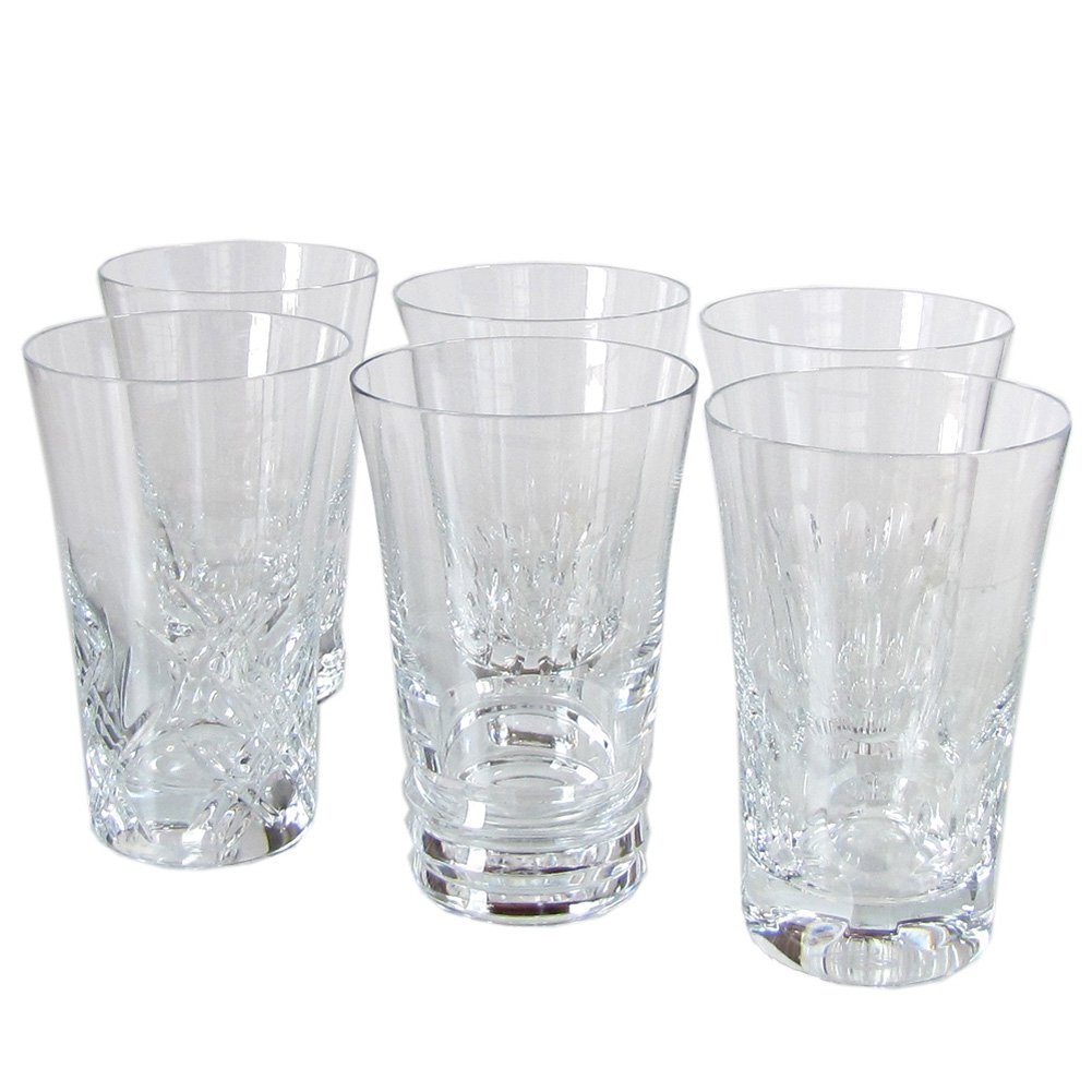 RARE BACCARAT EVERYDAY GRANDE HIGHBALLS, SET OF 6 BRAND NEW 100% AUTHENTIC, 5.5'' H by Baccarat