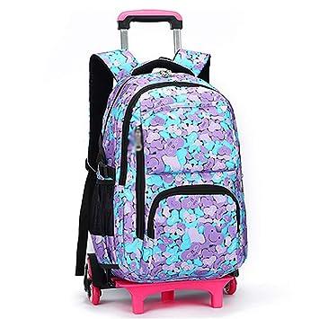 XHHWZB Rolling Backpack, Trolley School Bags Mochila con 6 Ruedas Escaleras de Escalada (Color : A): Amazon.es: Deportes y aire libre