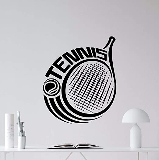 zxddzl Tenis de Pared Tatuajes de Raqueta Logotipo de Vinilo ...