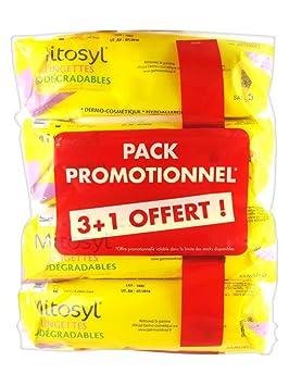 Mitosyl toallitas biodegradables – Juego de 4 paquetes de 72 toallitas: Amazon.es: Bebé
